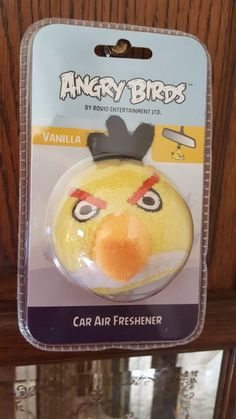 ROVIO ~ ANGRY BIRDS ~ 3D ~ PLUSH AIR FRESHENER ~ YELLOW BIRD ~ VANILLA SCENT…