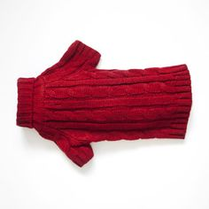 Cable Knit Jumper, Red  purplebone.com