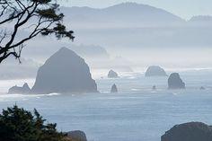 Misty Day at the Oregon Coast  Cannon Beach