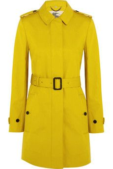 Burberry London Single-breasted bonded-cotton trench coat | NET-A-PORTER