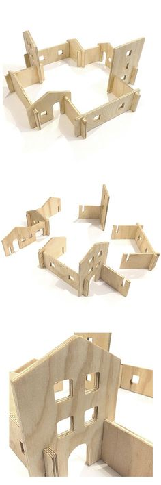 "wooden pieces tu build a city. pezzi di legno per costruire una citta'.  #toys ""La ciudad interminable"" - Juguete de madera ensamblado"