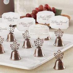 Fall Leaf Bell Place Card/Photo Holders by Beau-coup