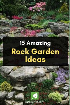 House Remodeling Is Residence Improvement Rock Gardens Are The Ideal Way To Resolve Backyard Height Differences While Keeping Things Pretty. Look at This Gallery For Ideas On How To Plan It Out. Rockery Garden, Rock Garden Plants, Succulents Garden, Garden Paths, Shade Garden, Succulent Rock Garden, Pond Plants, Succulent Gardening, Garden Pond