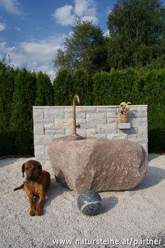 Natursteine.at Garden Sink, Outdoor Decor, Home Decor, Fuentes De Agua, Rocks, Natural Stones, Porches, Vanity Basin, Homes