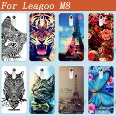Tiger Owl Rose Butterfly printing Painted Back Cover for Leagoo M8 Silicon Soft Comfortable Protective Back Case For Leagoo M8
