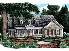 Colonial House Plan with 2296 Square Feet and 3 Bedrooms from Dream Home Source | House Plan Code DHSW29047