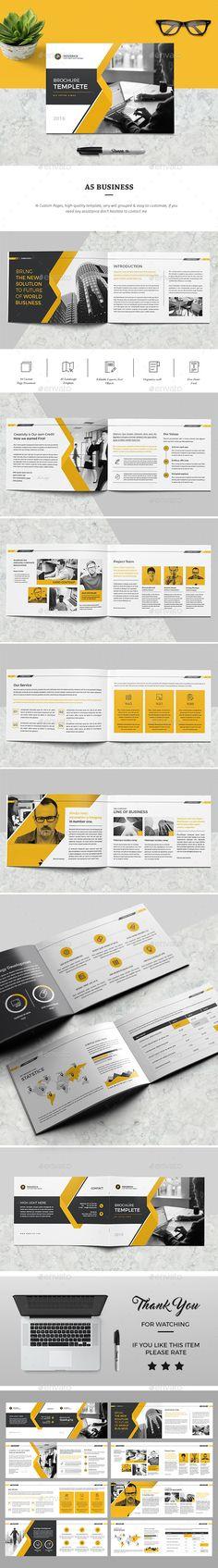 Brochure — InDesign INDD #business #brief • Download ➝ https://graphicriver.net/item/brochure/19499537?ref=pxcr