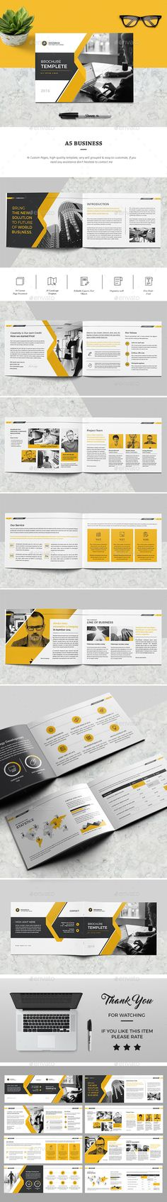Brochure — InDesign INDD #business #brief • Download ➝ https://graphicriver.net/item/brochure/19499537?ref=pxcr