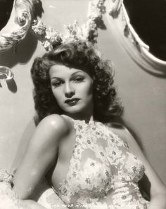"Portrait of Rita Hayworth for ""You were never lovelier"", (1942). Photo by George Hurrell"