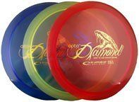 Latitude 64 Opto Diamond Light Disc Golf Driver by Latitude 64. $12.95. Diamond Light is the choice of disc for beginners, children and people who don´t throw very far. It is produced only in weights between 145g-159g. which makes it easy to throw and control. It has an understable flight path with good glide and small fade.