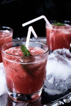 Watermelon, Gin & Pepper Mint Cocktail