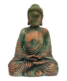 Look at this Sitting Buddha Statue on #zulily today!