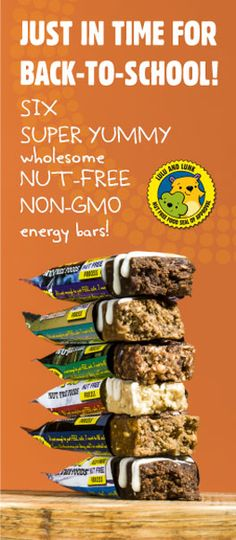Peanut Free and Tree-Nut Free NON-GMO Granola Bars. Safe and delicious food options for those with allergies..