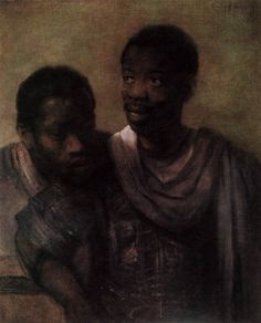 REMBRANDT Harmenszoon van Rijn  Two Africans  1661  Oil on canvas, 78 x 64 cm  Mauritshuis, The Hague