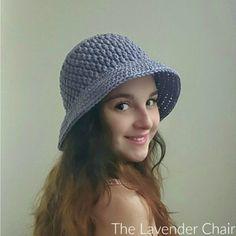 Brickwork Summer Sun Hat (Adult) Crochet Pattern - The Lavender Chair