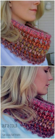 Easy Crochet Scarf Patterns for Beginners: We all know that winter season is common soon and for the ladies wearing scarves is the top most favorite clothing item in their. Crochet Cowl Free Pattern, Easy Crochet, Crochet Stitches, Free Crochet, Crochet Patterns, Crochet Ideas, Crochet Scarves, Crochet Clothes, Crochet Hats