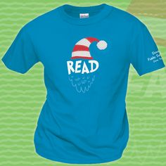 """Celebrate the holiday season at your library with fun """"READ"""" t-shirts, long sleeve shirts and sweatshirts from WorkPlacePro! Variable on both sapphire blue and Irish green! We can personalize your t-shirts for FREE on all orders of 12 or more! We'll print your Library or school name on the left Sleeve on Short Sleeve Shirts and the Upper Back Medallion on Long Sleeve Garments Get yours today at www.workplacepro.com"""