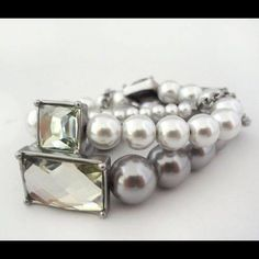 """SALE PEARL """"HEIRESS BRACELETS"""" SILVER Very chic silver elastic pearl bracelet set!  Thank You for Shopping By! PayPal  Low Balling  Drama  Comment Negotiations  Trades (Very selective) Bundles Offer Button Lia Sophia Jewelry"""