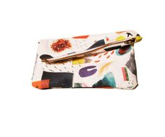 Mini Abstract Art Collage Zipper Clutch / Kindah Khalidy  UM LOVE IT !