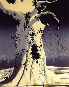 Pine Branch - Eyvind Earle - WikiPaintings.org