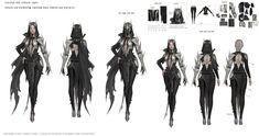 Female Character Concept, Character Model Sheet, Character Modeling, Character Art, Character Design Disney, Character Design Inspiration, Dark Knight Costume, Black Desert Online, Cute Cat Illustration