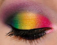 rainbow, xsparkage, black, blue, green, yellow, pink, red, mascara