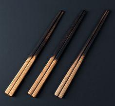 White Oak Chopsticks + Copper Rest Rest handmade by ME Speak Design.