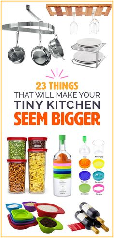 23 Things Anyone With A Tiny Kitchen Needs Apartment Kitchen Buzzfeed, Small Space Gardening, Apartment Kitchen, Apartment Ideas, Studio Apartment, Do It Yourself Home, Home And Deco, Home Organization, Organizing