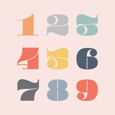 Pompadour Font on Chalkboard blog - The most beautiful numbers