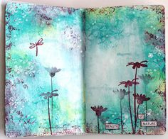 Very beautiful Art Journal page, I wish I was that talented..
