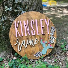 Custom wood name sign. Cute Baby Girl Names, Unique Baby Names, Baby Love, Names Baby, Kid Names, Nursery Name, Nursery Signs, Nursery Themes, Nursery Ideas