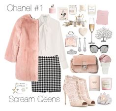 """#24 #screamqueens #chanel1"" by meowsofi on Polyvore featuring Valentino, Michael Kors, Dolce&Gabbana, Fendi, Tiffany & Co., Guerlain, Sin, Rogaska, Michael Aram and Nordstrom"