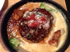 石焼ハンバーグランチ (デミ味噌チーズソース)