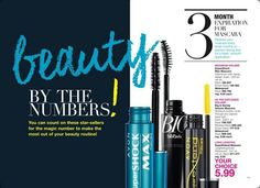 Freshen up your #mascara every 3 months! Campaign 4-- Your choice $5.99  #Shop online @ youravon.com/4me. #Freeshipping on $40. Place a direct order with Michelle 1-248-421-9305  #avonrep #makeup #mascara #cosmetics