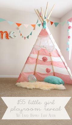 $55 Little Girl Playroom Reveal