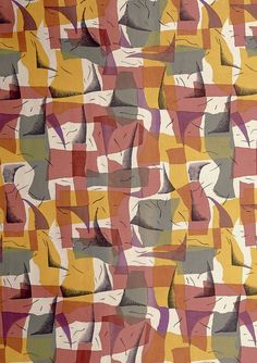Gigi Tessari/Manifattura: Spago Furnishing fabric, printed cotton. Italy, 1957