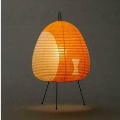 Akari Light Sculpture, STAND Series (floor & table), Model No. Ozeki Lantern Co. Noguchi Lamp, Isamu Noguchi, Glass Lamp Base, Milk Glass Lamp, Japanese Lighting, Paper Light, Table Lamp Shades, Beautiful Home Designs, Modern Ceramics