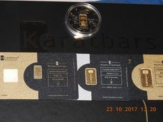 My new Karatbars 24K gold bullion - 1g collector's coin, 1g bar, 2.5g bar, and 5g bar respectively. [ Learn more at: www.paper2gold.net ] Make Money From Home, How To Make Money, Gold Bullion, Make New Friends, Bar, Making Money At Home