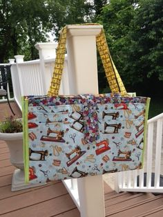 I'm very excited to introduce a new bag sewing pattern, the Camp Stitchalot Bag! This pdf pattern is now available in my pattern shop (also available on paper)! This large bag has a specific purpose: toting all of your crafting or sewing supplies with you wherever you go! Although it would also be perfect for …