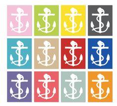 Anchor Wall Art Print Nautical Home Decor