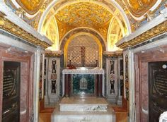 The Clementine Chapel also known as La Clementina is a particular enclosed Roman Catholic chapel located within the underground necropolitan grottoes of Saint Peter's Basilica in Vatican City. According to Catholic tradition, the area is the actual site where Saint Peter the Apostle was invertedly crucified and his blood was shed to the ground.
