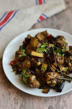 kurryleaves: Spicy Chicken - Coconut Fry | Kerala Chicken pepper fry