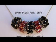 Birth stone beaded beads with a herringbone twist - YouTube