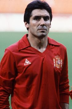 Carlos Santillana during the Football European Championship ( Euro 1984 ) between Romania and Spain at Stade Geoffroy Guichard, Saint-Etienne, France on 14 June, 1984