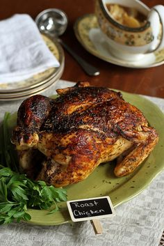 Roasted Chicken Recipe with Deep Onion-Garlic Gravy | cookincanuck.com #glutenfree #chicken #lowcarb