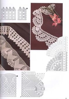 Lace Edging Crochet Patterns - Beautiful Crochet Patterns and Knitting Patterns Filet Crochet, Crochet Lace Edging, Crochet Motifs, Crochet Borders, Crochet Diagram, Crochet Stitches Patterns, Crochet Chart, Thread Crochet, Crochet Doilies