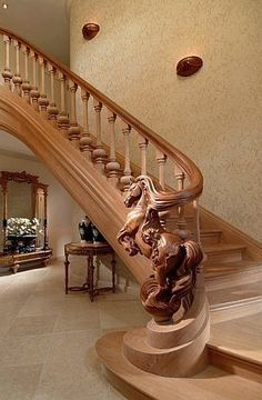 Wooden Stairs Ideas Stairways Banisters Ideas For 2019 Staircase Railings, Banisters, Grand Staircase, Staircase Design, Stairways, Hand Railing, Interior Staircase, Escalier Art, Escalier Design