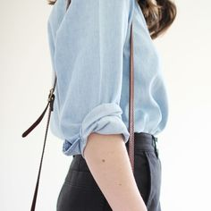 The high waisted pants and comfortable top look great together
