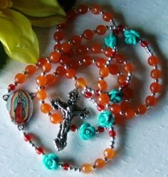 Our Lady of Guadalupe Gemstone Rosary by thereseklieforth.murray