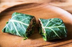 Collard Wraps with Herbed Cashew Spread and Roast Peppers , a recipe on Food52